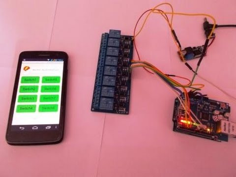HOME AUTOMATION CONTROL DEVICES REMOTELY THROUGH INTERNET USING ARDUINO