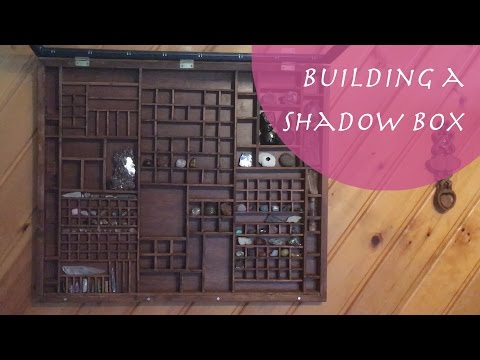 How To Build a Shadow Box - Crystal and Mineral Collection