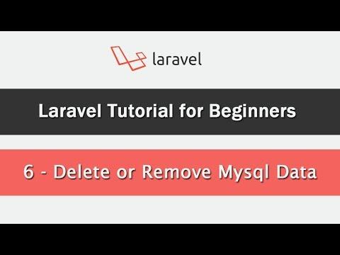 Laravel Tutorial for Beginners - Delete or Remove Mysql Data