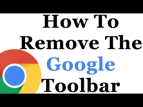 How To Remove The Google Toolbar From Internet Explorer