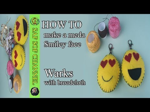 how to make a medal Smiley face