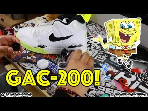 HOW TO PROTECT PLASTIC ON CUSTOM SNEAKERS USING GAC-200!!!