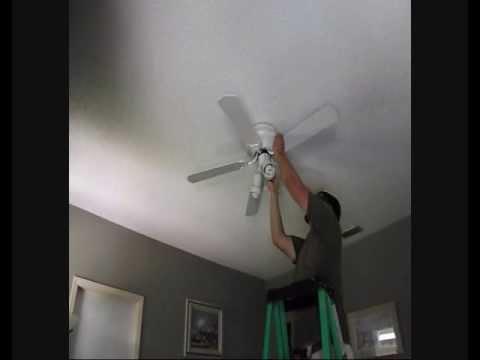 ceiling fan removal