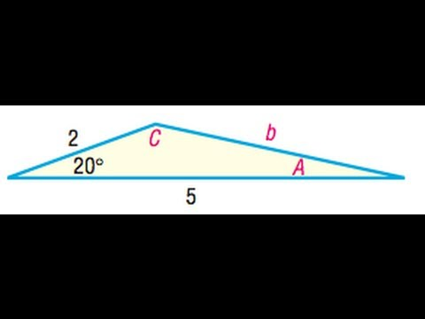 Area of a triangle with side 2, 5, and angle of 20 degrees.