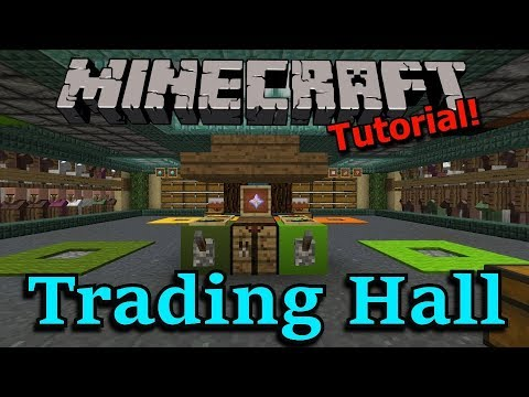 Minecraft Tutorial (1.13 Ready): Trading Hall + Base-in-a-Box!