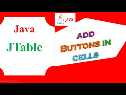 Java JTable Ep.07  - Add  Button In Column Cells
