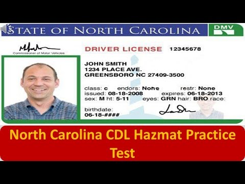North Carolina CDL Hazmat Practice Test