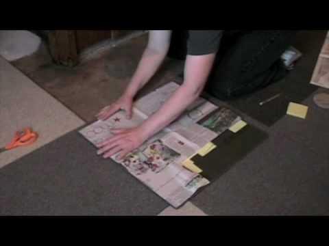 FLOR carpet tile installation around mouldings