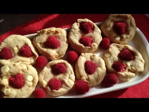 Raspberry White Chocolate Cookies - Rise Wine & Dine - Episode 96