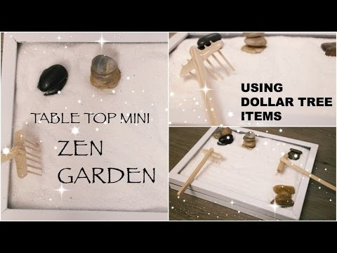 DIY Dollar Tree Zen Garden || Affordable Table Top Decor || Spring 2017