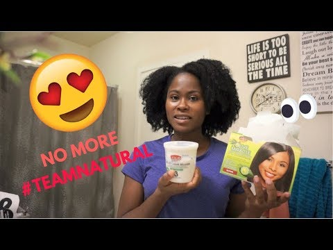 I Relaxed My Natural Hair After 6 Years?!| Hubby was sad