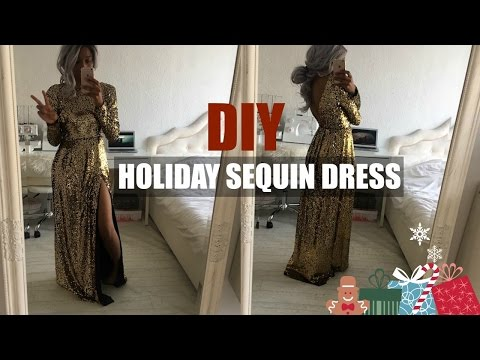 DIY | HOW TO MAKE A SEQUIN HOLIDAY DRESS WITH OPEN BACK (pattern available)