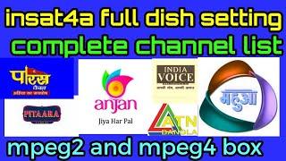 Insat 4A 83E C Band Complete Dish Setting
