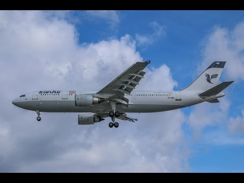 Iran Air Airbus A300-600 EP-IBD Landing at London Heathrow (LHR)
