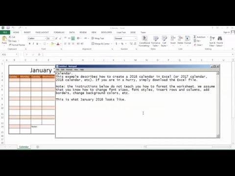 Excel Calendar - how to create auto calendar for each year