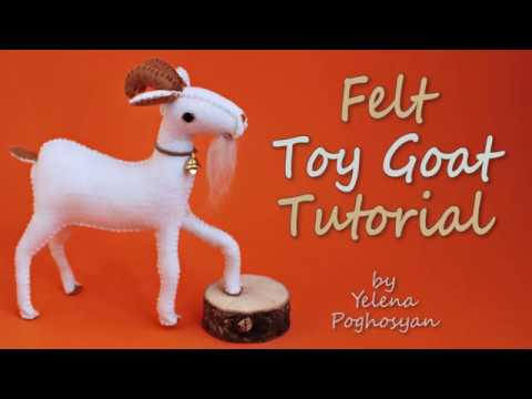 Felt goat tutorial - DIY Goat toy from wool felt