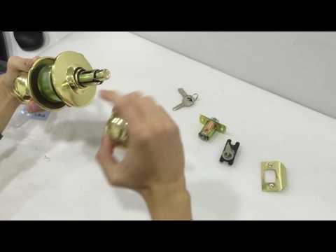 A-TECH Cylinder Door LockSet Tutorial  (DL-587 Series)