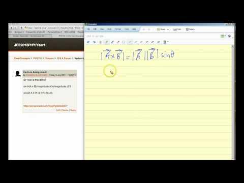 Angle between vectors using cross product - Free IIT Coaching Video