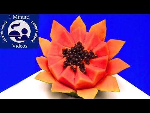 Cómo Hacer una Flor con una Papaya / Frutas, Papayón, Olocotón