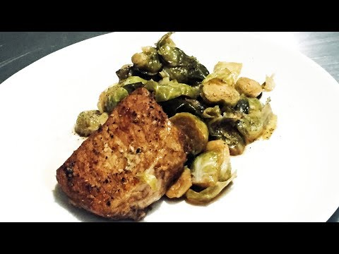 How to make Pork Chops and Brussels Sprouts in the GeekChef Electric Pressure Cooker