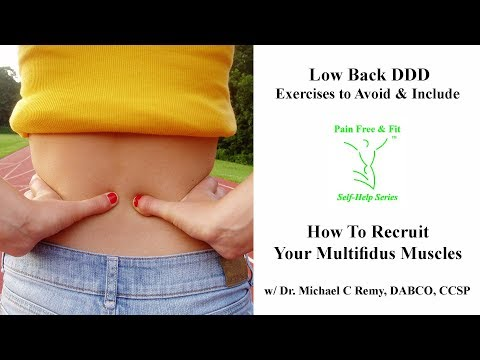 Degenerative Disc Disease Exercises To Avoid and Include- How to Recruit Your Multifidus Muscles