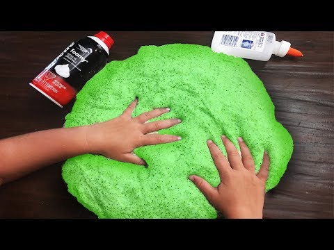 Blindfolded No Bowl Slime Challenge! It goes wrong! How to make DIY Fluffy Slime!