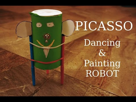 How to make a robot: Picasso - dancing and painting robot (DIY)