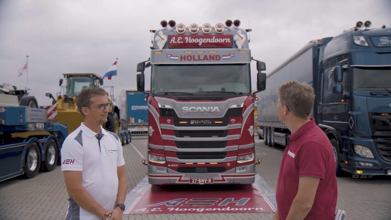 Scania S 650 A.E. Hoogendoorn - categorie 2 huif/gesloten vervoer - Mooiste Truck van Nederland 2020