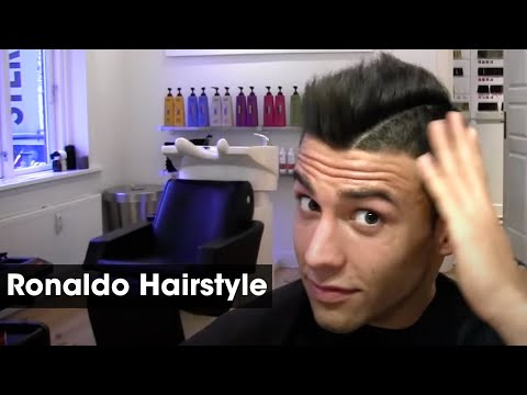 Cristiano Ronaldo Inspired Haircut Tutorial | How To Style & Cut A Football Soccer Hairstyle