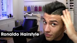 Slikhaar Studio shows you how to get a Cristiano Ronaldo inspired hairstyle. The model is our friend Türker Alici (known from Paradise Hotel season 2012). We recommend By Vilain Gold Digger for great hairstyling results. ★ Shop online! http://www.SlikhaarShop.com ★  Hi GUYS! We hope you all enjoyed this video! Please let us know what other videos you