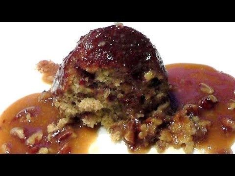 How to make STICKY TOFFEE PUDDING  with Pecan toffee sauce recipe
