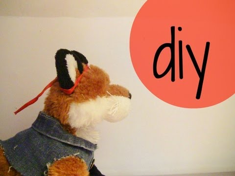 DIY: How to make a Webkinz waist coat + Denim skirt