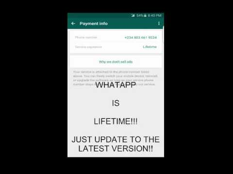 How to stay connected on whatapp for lifetime without payment, android and pc web