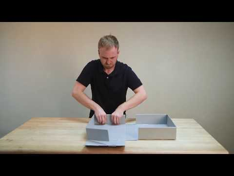 Box Assembly Instructions: Drop-Front Clamshell Box