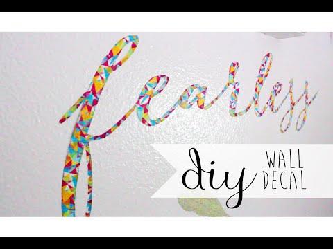 DIY Room Decor: Wall Decal Using Washi Tape