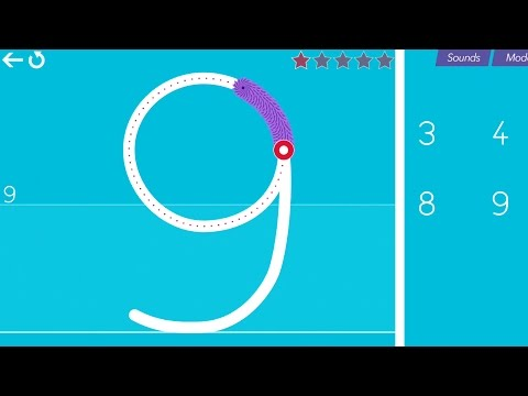 Cursive Writing Wizard – Trace Letters & Words - All Numbers 5 Stars Mode