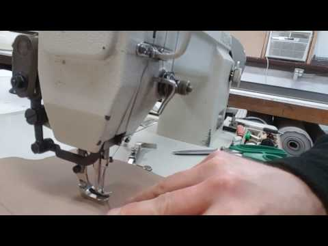 Sewing leather slow with a servo