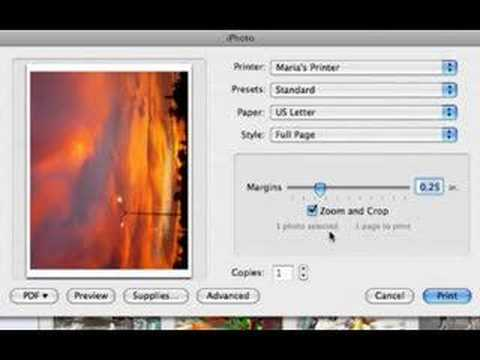How to use iphoto to create Business Cards
