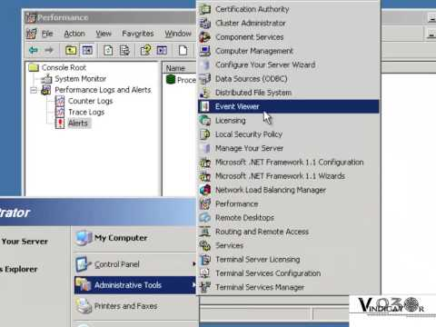 System Monitor and Performance Alert (Windows Server 2003)