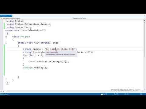 Tutorial C# - Metodo Split