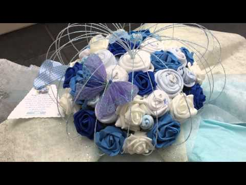 Super Deluxe Baby Boy Clothing Bouquet