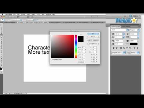Learn Adobe Photoshop - Character Panel