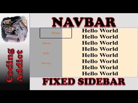 Navbar - Fixed Sidebar