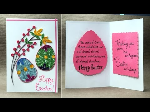 Easter Card - How to Make Quilling Easter Egg Card