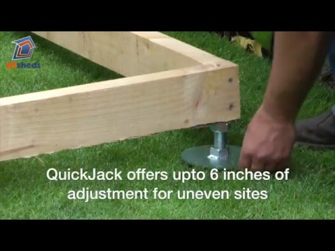QuickJACK Shed Base: How to create a fast shed foundation.