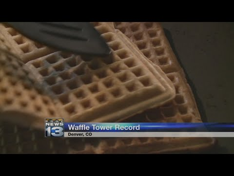 Group breaks world record for tallest stack of waffles