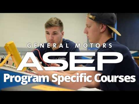 General Motors ASEP at ICC: Program Specific Courses