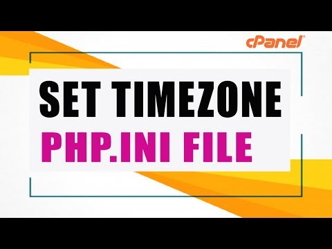 Change/Set Default Server TimeZone [php.ini File]