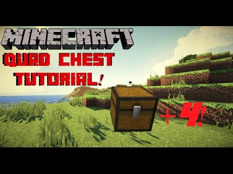 Minecraft Tutorial: Quad Chest! 4 Chests In One!