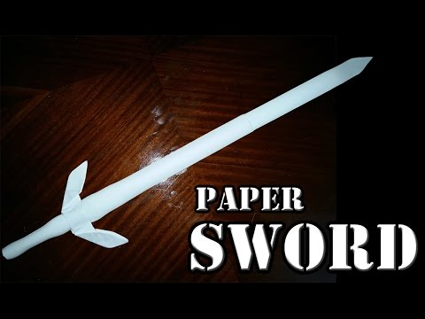 How to make a long paper sword -  ninja sword